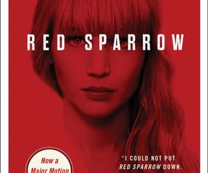 book, Jennifer Lawrence, and red sparrow image