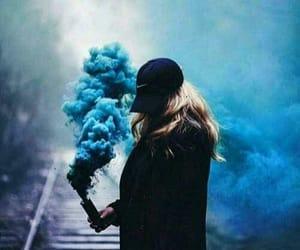 azul, smoke, and blue image