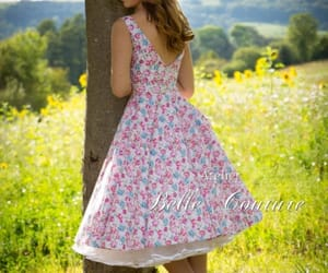 floral dress, petticoat, and church dress image