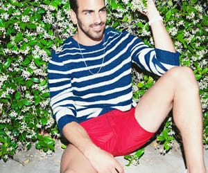 bulge, male model, and red shorts image