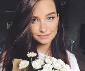 eyes, flowers, and innocent image