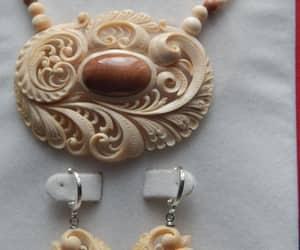 earrings, mammoth, and tusk image