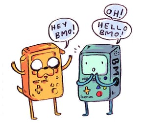 bmo, JAKe, and adventure time image