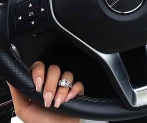 mercedes, ring, and wedding image