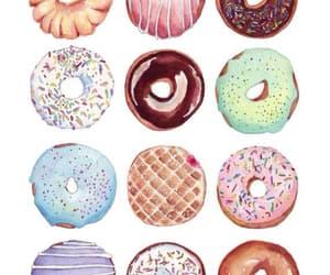 donuts, art, and drawing image