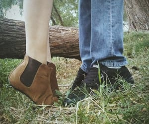 boots, boy, and girl image