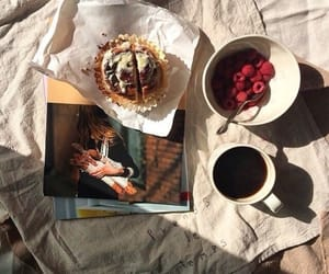 bed, breakfast, and pancakes image
