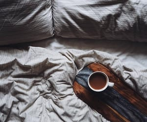 beautiful, bed, and coffee image