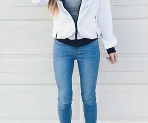 outfit, nike, and white image