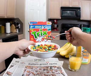 trix, cereal, and food image