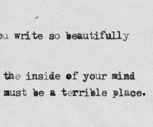 quotes, mind, and terrible image
