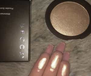 makeup, becca, and highlighter image