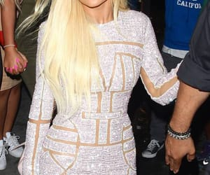 blonde hair, dress, and fashion image