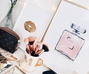 Brushes, gold, and chic image