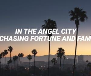 angel, dark, and landscape image