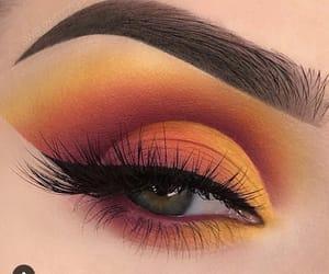 dramatic, eyes, and makeup image