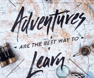 adventures, learn, and map image