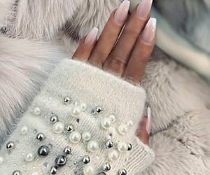 nails, fashion, and pearls image
