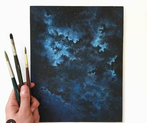 art, blue, and black image
