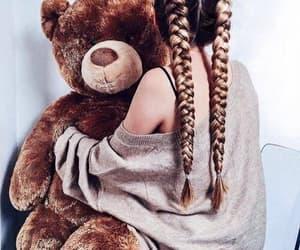 hair, bear, and braid image