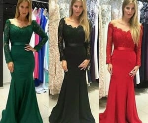 evening dress, fashion, and Prom image