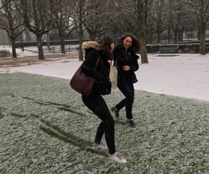 friend, friendship, and snow image