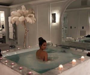 bath, girl, and luxury image