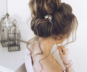 elegance, girl, and hairstyle image