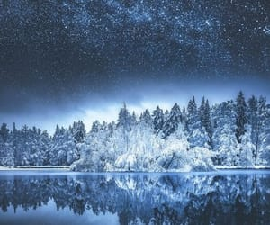 nature, stars, and winter image