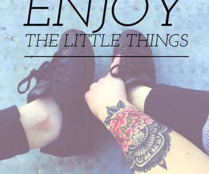 enjoy, little things, and tattoo image