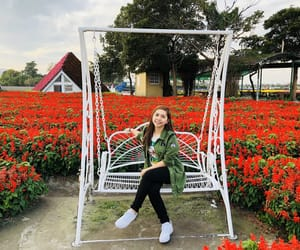 taiwan, selfie, and redflower image