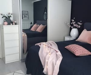 room decor, bed, and pink image