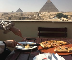 food, egypt, and pizza image