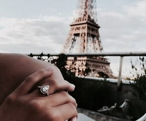 paris, ring, and couple image