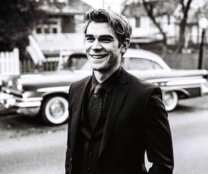 actor, b&w, and suit image