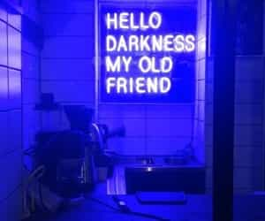 Darkness, blue, and neon image