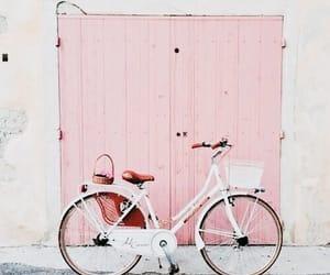 pink, bike, and bicycle image