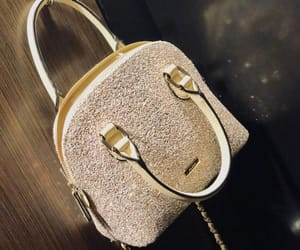 bag, gold, and girly image