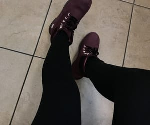burgundy, velvet, and timbs image