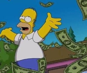 reaction, homer, and money image