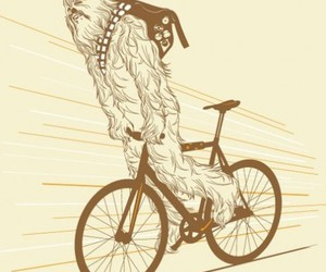 chewbacca and bicycle image