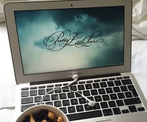 pretty little liars, apple, and macbook image