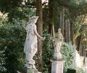 nature, statue, and green image
