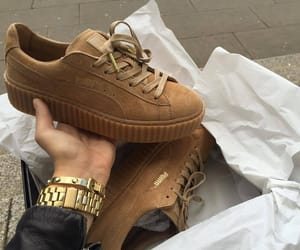 puma, shoes, and brown image