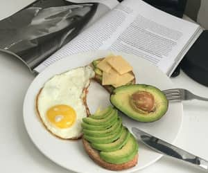 food, breakfast, and avocado image