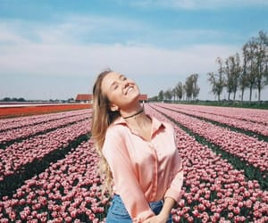 fashion, girl, and field image