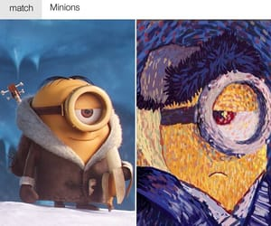 minions, vincent, and van gogh image