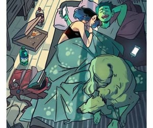 couple, teen titans, and fanart image