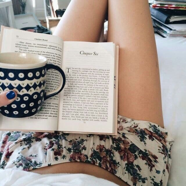 book, me, and reading image