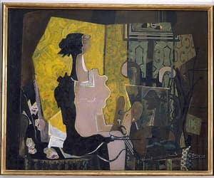 art, georges braque, and easel image